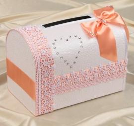 персиковая коробка для денег фото