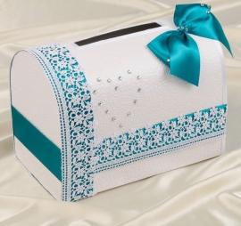 """Коробка для денег с изумрудным декором """"Алина"""" 002104"""