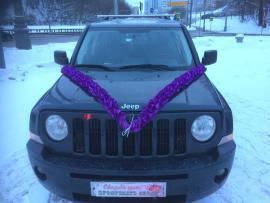Лента на машину фиолетовая рюш 3м, ширина 10см 02609