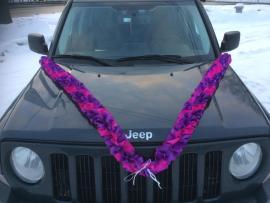 фиолетовая лента на машину