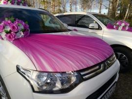 малиновый комплект на машину розы фото