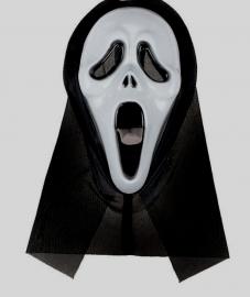маска череп с криком в накидке