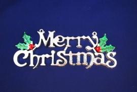 табличка merry christmas серебро