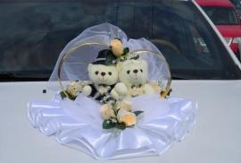 мишки на машину персиковые розы кольца фото