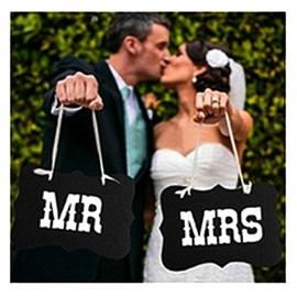 мистер и миссис таблички для фотосессии купить
