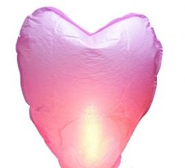 фонарик небесный розовое сердце