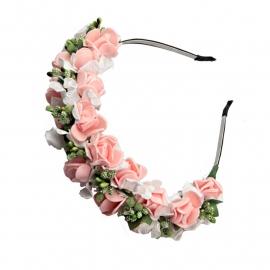 ободок с цветами роза