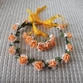 венок на голову из фоамирана оранжевый фото