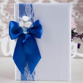 папка для свидетельства о браке синее купить