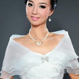 пелерина свадебная белая купить