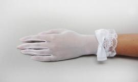 короткие свадебные перчатки