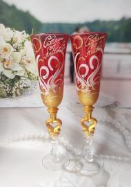 Подарок на Рубиновую Свадьбу -  РУБИНОВЫЕ ФУЖЕРЫ   004003
