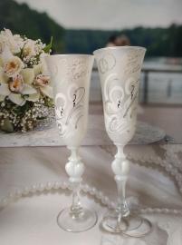 серебряные свадебные бокалы фото