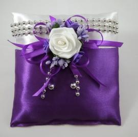 фиолетовая подушечка для колец купить