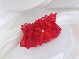 красные свадебные подвязки фото
