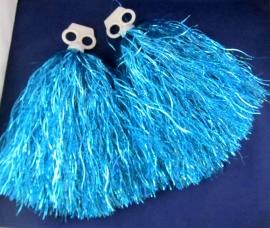 помпоны для танца голубые фото