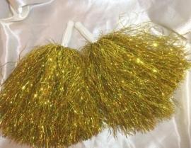 помпоны для танца золото фото