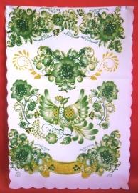 рушник свадебный зеленый фото