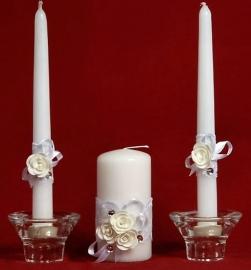 свечи на свадьбу белые