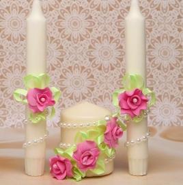 свечи очаг мятно-розовые фото sale-svadba.ru
