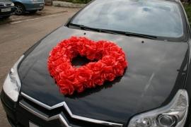 сердце на машину красное фото