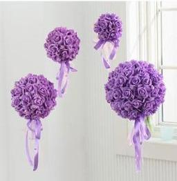 шар из искусственных цветов фиолетовый фото