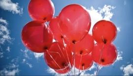 Шары красные воздушные 10 шт. 000381