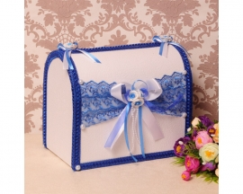 Синий сундучок на свадьбу 003053