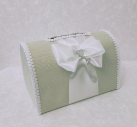 Сундучок для подарков мятный 002865