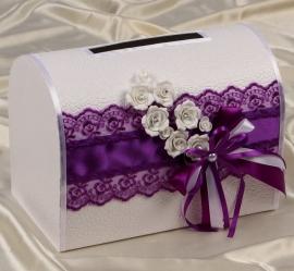 фиолетовые свадебные украшения