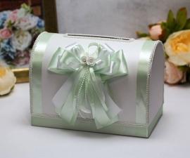 мятный свадебный сундучок купить