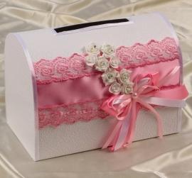 розовые украшения на свадьбу фото