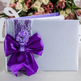 свадебная книга пожеланий фиолетовая фото