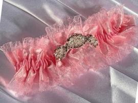 розовая свадебная подвязка купить