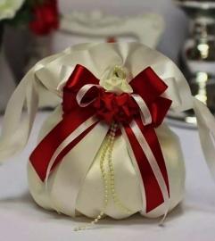 """Свадебная сумочка марсала - бордово-вишневая """"Римма""""001009"""