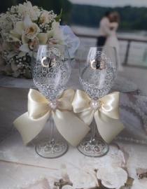 свадебные бокалы айвори продам сегодня 11:34