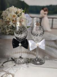"""Свадебные бокалы """"Инь и Янь"""" 2 шт. 005003"""