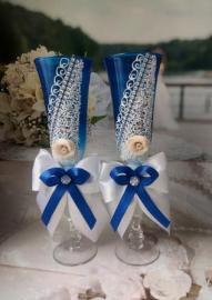 сние фужеры на свадьбу для синей свадьбы фото