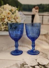 Свадебные кубки синие 03012