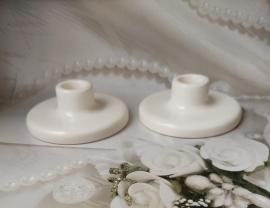Свадебные подсвечники под тонкие свечи 2 шт 000683