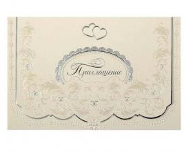 свадебное приглашение белое, жемчужное фото