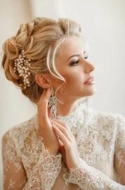 """Свадебные серьги """" Листопад"""" 001713"""