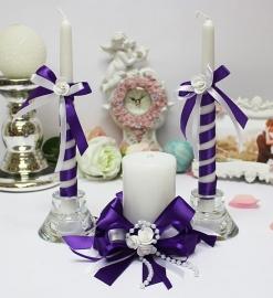 свечи очаг фиолетовые