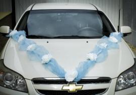 голубые свадебные украшения