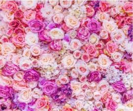 фотофон, свадебна фотостена ярко розовая из роз