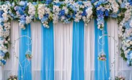 свадебный пресс волл, фотостенаярко-голубой фото