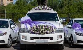 свадебные украшения для лимузинов фото