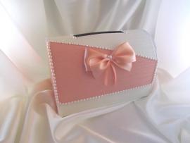 персиковые свадебные коробки фото