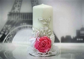 свадебные свечи розовые