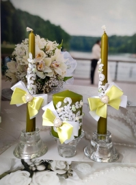 зеленые свечи на свадьбу фото